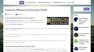Undercover Millionaire Currency Scam Review   Kipi Community