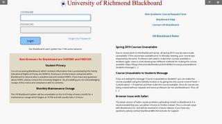 Blackboard Learn - University of Richmond