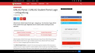 UNILAG Portal   UNILAG Student Portal Login – unilag.edu.ng
