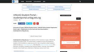 UNILAG Student Portal – studentportal.unilag.edu.ng - Eduinformant