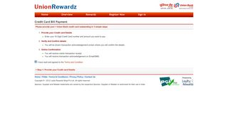 Credit Card Bill Payment - Union Rewardz