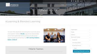 eLearning & Blended Learning – University of Klagenfurt