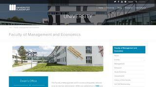 UNI Klagenfurt | Faculty profile