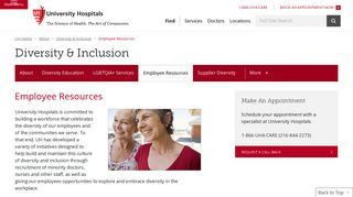 Employee Resources | Diversity and Inclusion ... - University Hospitals