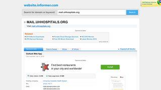 mail.uhhospitals.org at WI. Outlook Web App - Website Informer