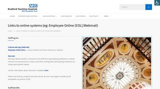Links to online systems (eg: Employee Online [EOL]/Webmail ...