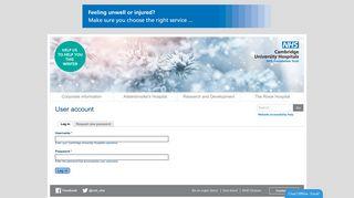 User account | Cambridge University Hospitals