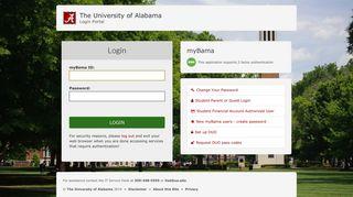 Login - CAS – Central Authentication Service - University of Alabama