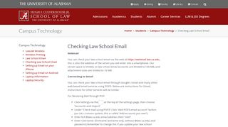 Checking Law School Email   Culverhouse Law at University of Alabama