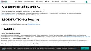 Frequently Asked Questions - Hertfordshire Students' Union