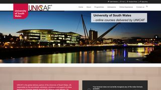 Home Page - University of South Wales Online