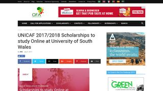 UNICAF 2017/2018 Scholarships to study Online at University of ...