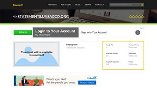 Welcome to Statements.unsacco.org
