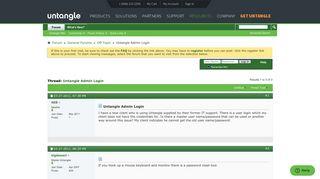 Untangle Admin Login - Untangle Forums