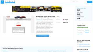 Visit Uotdealer.com - Welcome.