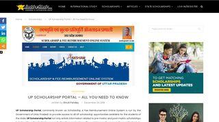 UP Scholarship Portal- Scholarship List, Application Process, Key ...
