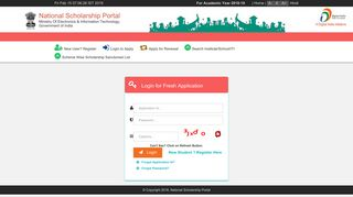 NSP - Login - National Scholarship Portal