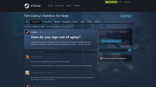 How do you sign out of uplay? :: Tom Clancy's Rainbow Six Siege ...