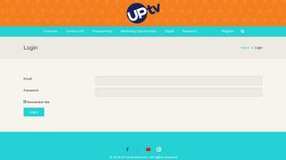 Login – UPtv – Ad Sales
