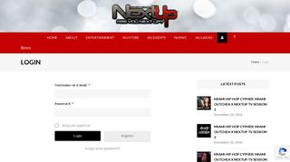 Login - Next Up TV