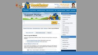 How to Log into Webmail « HostGator.com Support Portal