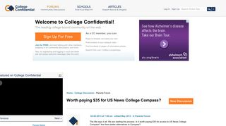 Worth paying $35 for US News College Compass? — College Confidential