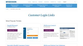 Customer Portal Login Links & Resources   McKesson