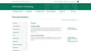 Email | Information Technology - University of South Florida