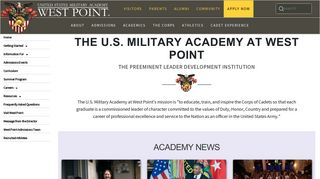 Admissions Team 2 - West Point