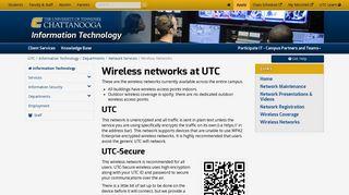 Wireless Networks - UTC.edu