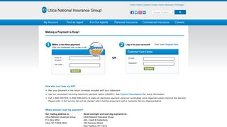 Make a Payment - Utica National