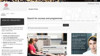 Start, Studentportalen - Uppsala universitet