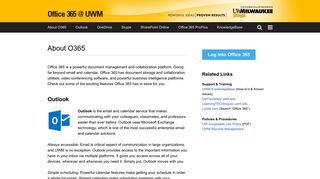 About O365   Office 365 at UWM