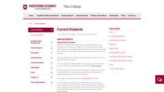 Current Students | The College - Western Sydney University