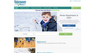 Vancouver Parks & Recreation   Registration