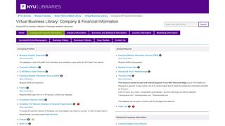 Company & Financial Information - Virtual Business Library ...