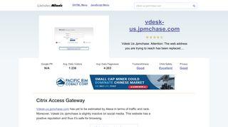 Vdesk-us.jpmchase.com website. Citrix Access Gateway.