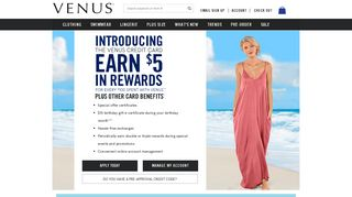 The VENUS Credit Card - Earn Rewards and Benefits Today!