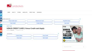 VENUS CREDIT CARD   Venus Credit card Apply - Cardsolves.com