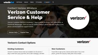 Verizon Wireless Customer Service   WhistleOut