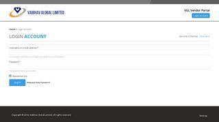 Login Account   VAIBHAV GLOBAL LIMITED