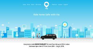 Via   Ride Home Safe with Via