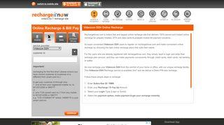 Videocon D2h Online Recharge - Videocon D2h Prepaid Online ...