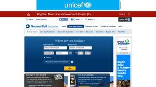 Your UK Train Journey Planner - National Rail Enquiries