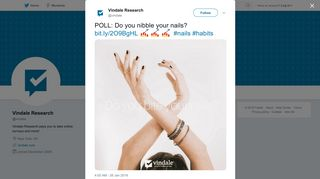 Vindale Research on Twitter: