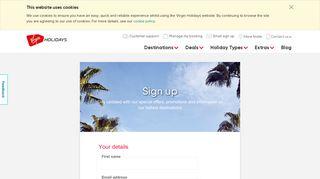 Sign up | Virgin Holidays