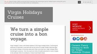 Virgin Holidays Cruises | Virgin