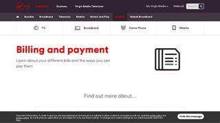 Billing & Payment | Customer Support | Virgin Media Ireland
