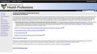PMP Description - Virginia Department of Health Professions