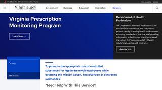 Virginia Prescription Monitoring Program - Commonwealth of Virginia